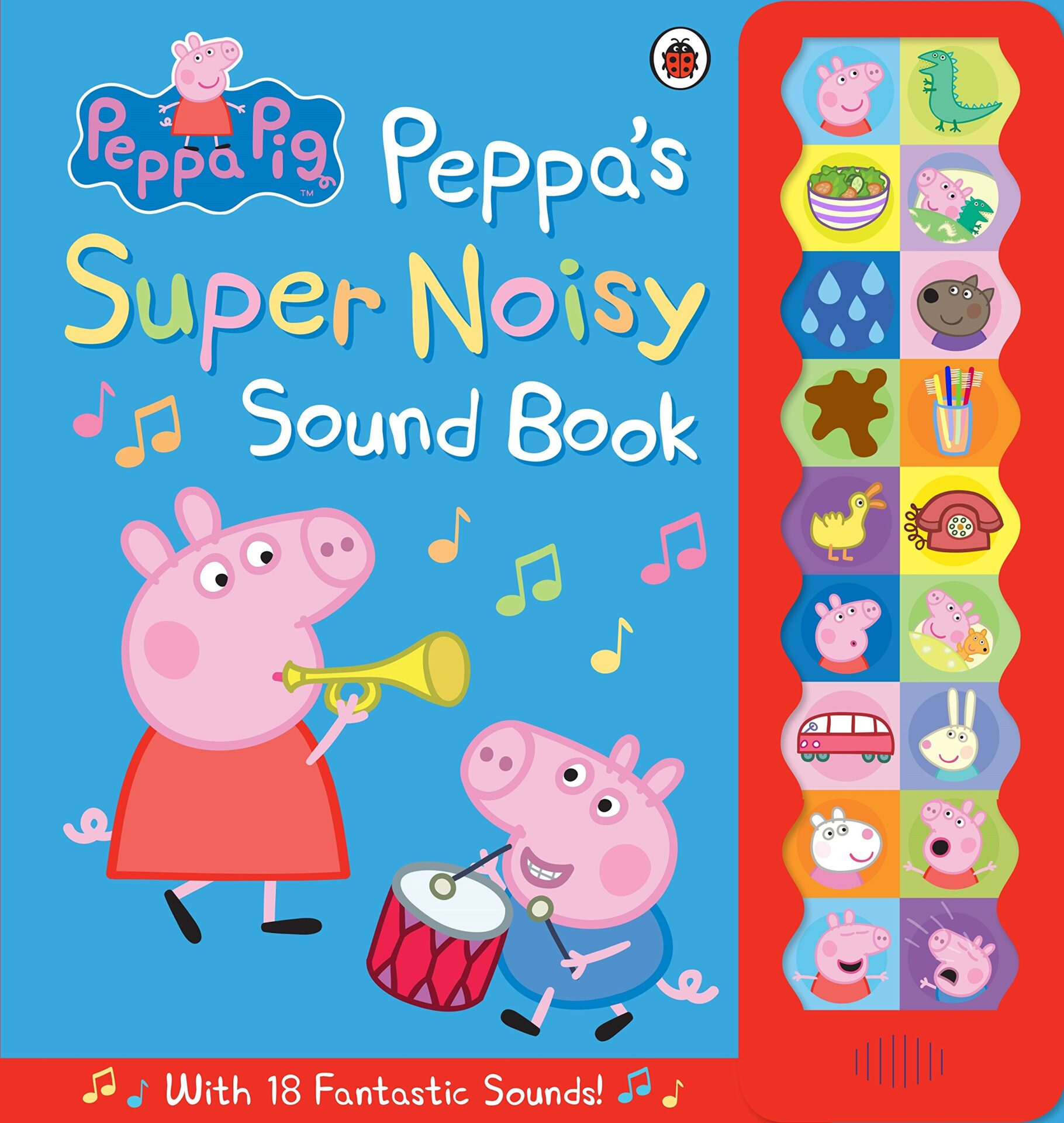 Peppa Pig Peppas Super Noisy Sound Book for 3 year old kids