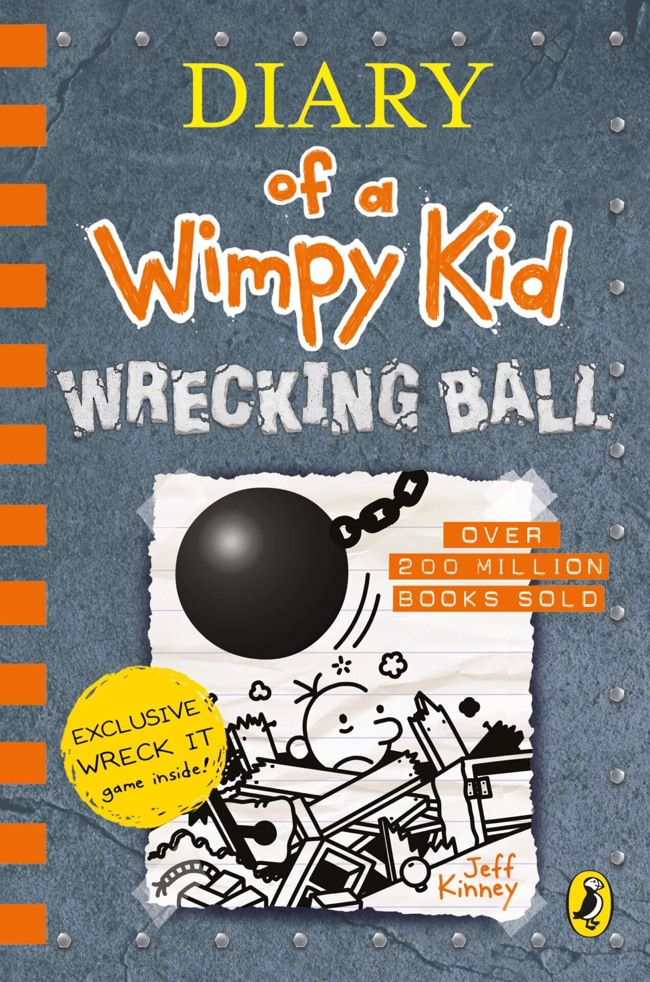 Diary of a Wimpy Kid Wrecking Ball book for 9 year old kids
